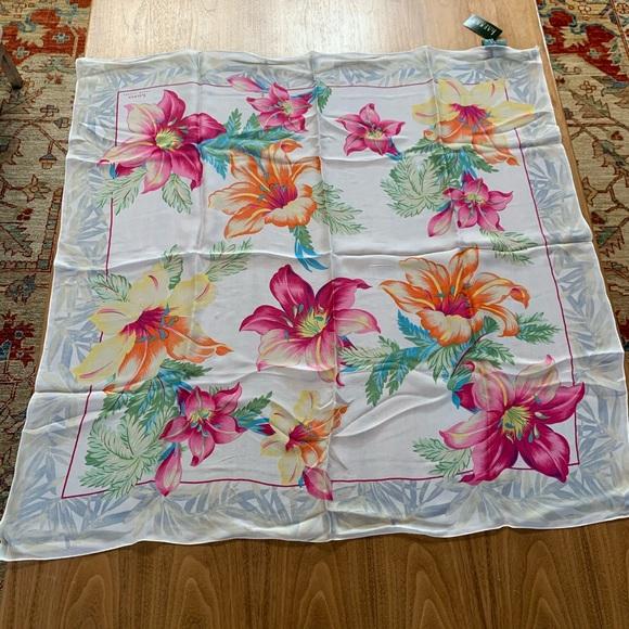 NWT Ralph Lauren sheer silk scarf